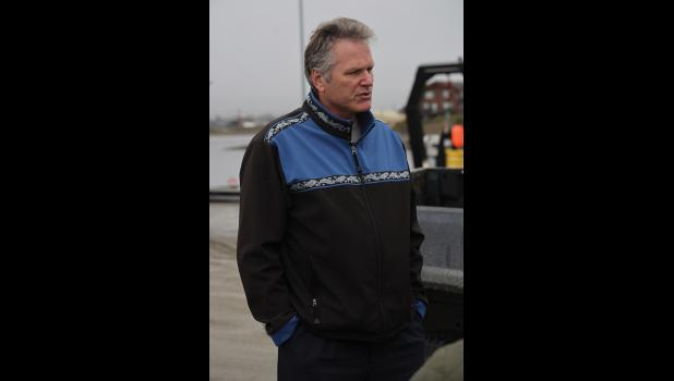 GOVERNOR TOURING PORT OF NOME— On Monday, August 30, Governor Mike Dunleavy visited Nome to take a tour of the Port of Nome.