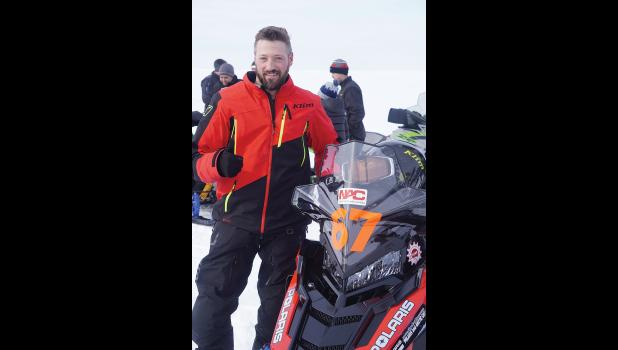 FIVE-TIME WINNER— Nome's Mike Morgan won the Archie Ferguson/Willie Goodwin Sr. Memorial snowmachine Race in Kotzebue on Saturday, April 3.