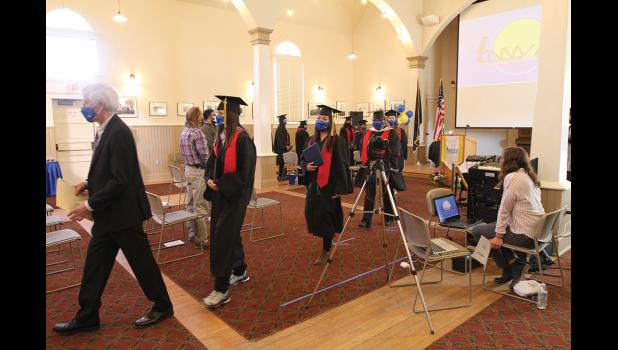 CONGRATULATIONS— The Class of 2021 received their degrees, diplomas and certificates on May 13, in a virtual commencement ceremony held at Old St. Joe's.