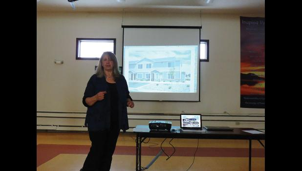 AFFORDABLE HOUSING— Sue Steinacher introduced a proposal to build a low-income housing complex in Nome.
