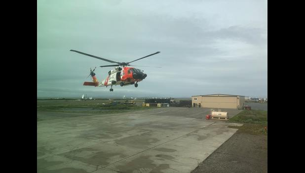KOTZEBUE FORWARD BASE— The Coast Guard has established the forward base in Kotzebue again this summer. The crew that rescued Jessee departed from Kotzebue and flew a mission to Nome.