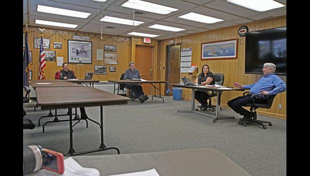 WORK SESSION— The Nome Common Council met for a work session on Monday, April 13.