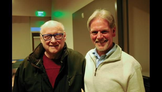 MELTING THE ICE CURTAIN— Author David Ramseur, right, poses with fellow Friendship Flight veteran Jim Stimpfle at Ramseur's visit to Nome last week.