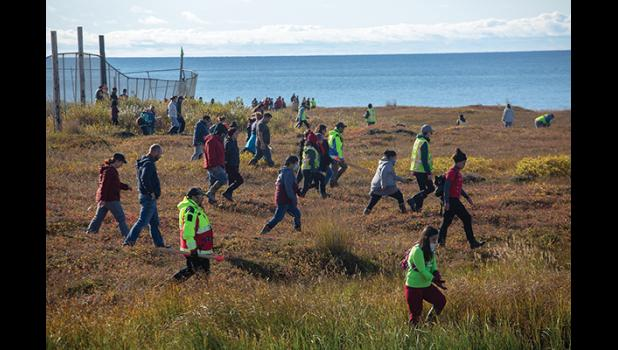 A community search on the tundra above West Beach was held Saturday, Sept. 5