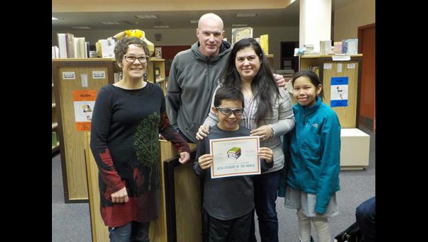 ACSA SEPTEMBER STUDENT OF THE MONTH— Anvil City Science Academy named Deacon Callahan as the September Student of the Month. He is pictured with ACSA Lead Teacher Lisa Leeper and his family.