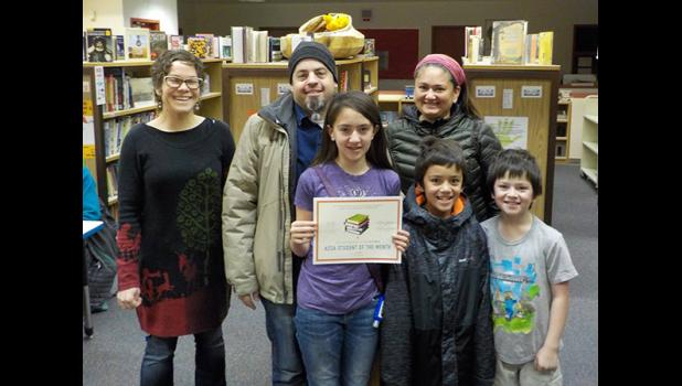 ACSA OCTOBER STUDENT OF THE MONTH— Anvil City Science Academy named Addison Knudsen as the October Student of the Month. She is pictured with her family and ACSA Lead Teacher Lisa Leeper.